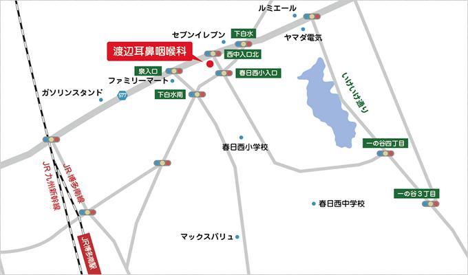 渡辺耳鼻咽喉科の地図